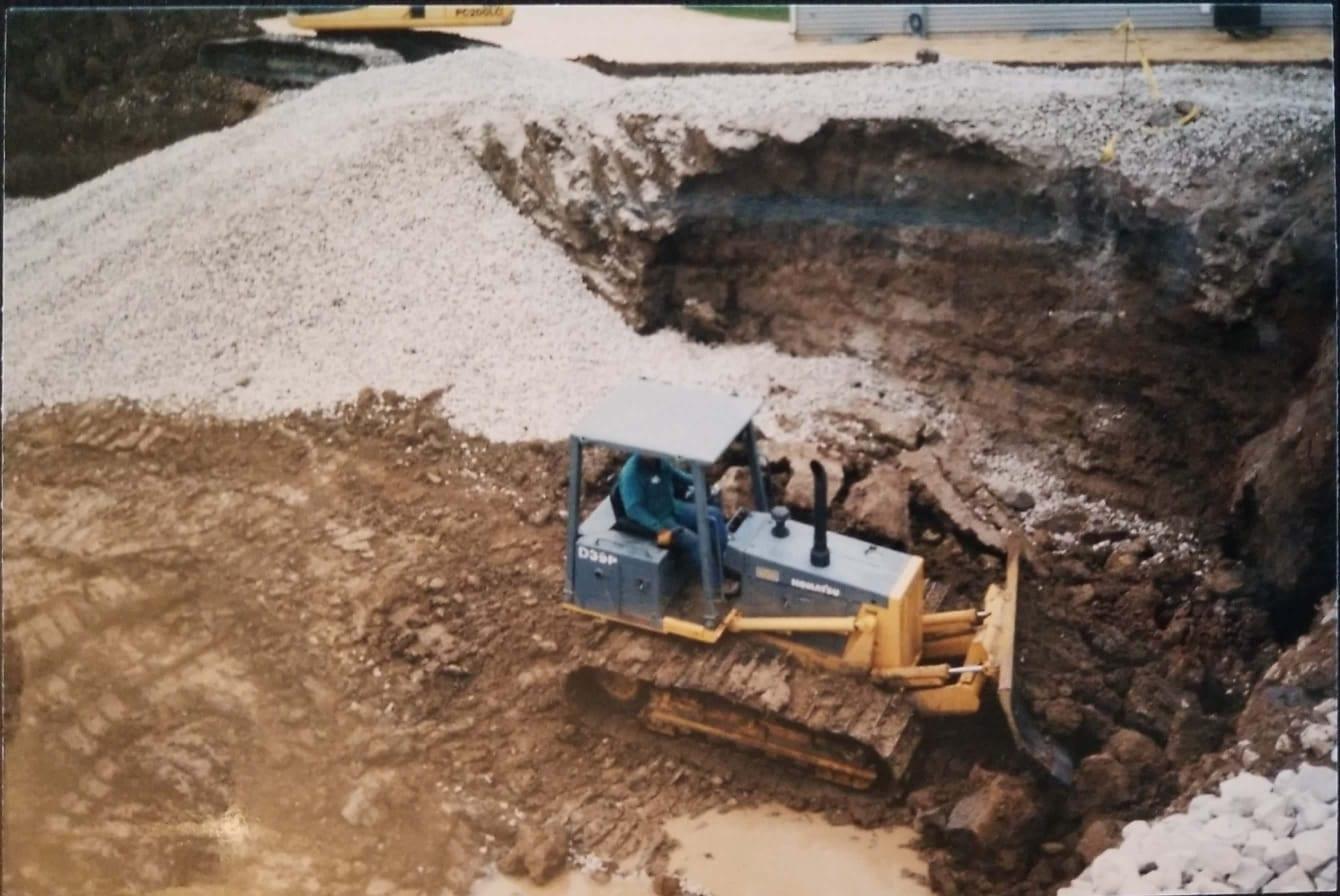 Antioch, IL. Undercutting Bad Soil