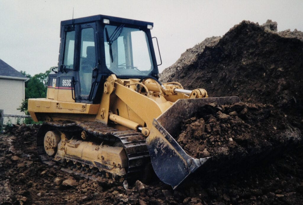 Land clearing being performed in Antioch, IL